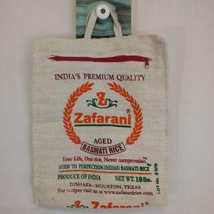 Handbags - Upcycle Repurposed Zafarani Rice Bag Slim Tote